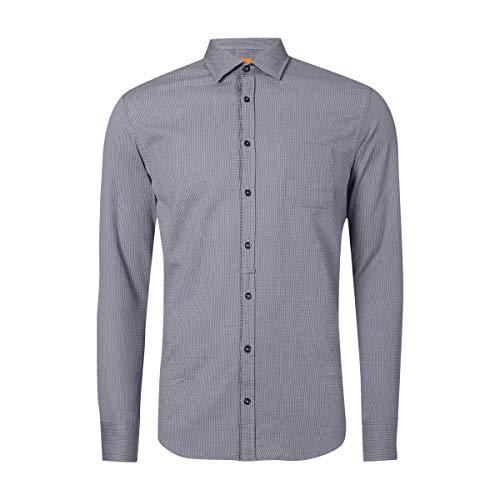 BOSS Orange Slim Fit Freizeithemd mit Webmuster Freizeit-Hemd NEU