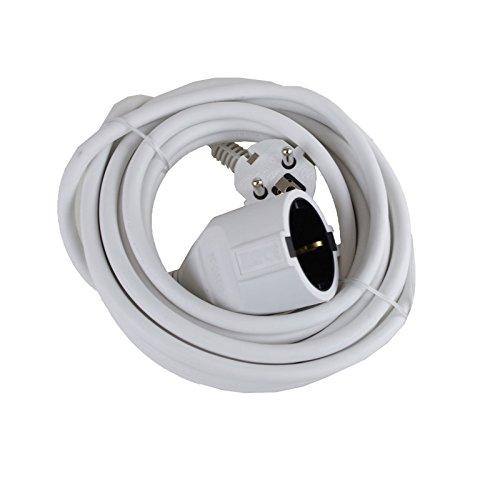 Rallonge 3 m Câble Rouleau 10 m câble d'alimentation elektrokabel Câble Blanc 5 m, 5.0m