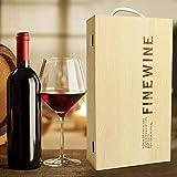 Somedays Weinflaschen Geschenkbox Holzbox Weinpräsent Holzgeschenkbox für Wein Holzkiste Aufbewahrung