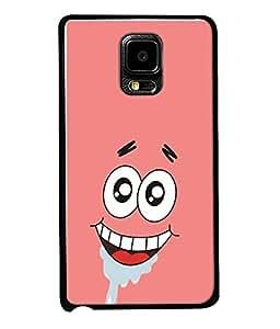 FUSON Designer Back Case Cover for Samsung Galaxy Note Edge :: Samsung Galaxy Note Edge N915Fy N915A N915T N915K/N915L/N915S N915G N915D (Pink Background Funny Cartoon Toon Eyes )