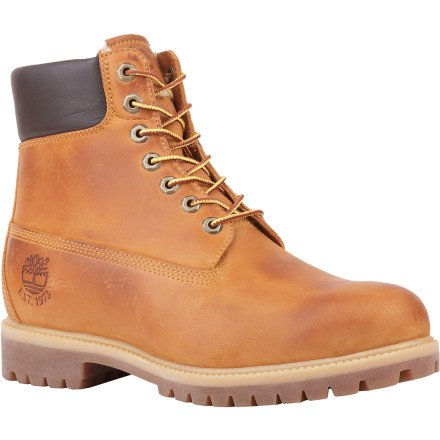 Timberland Men s 6  Premium Waterproof Boot Shearling Lined Wheat Nubuck Fleece