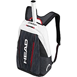 Head Djokovic Backpack Bolsa de Tenis, Unisex Adulto, Negro/Blanco, Talla Única