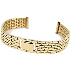 Stalux Replacement Watch Strap Stainless Steel Band IP yellow Gold 12mm-14mm 786132
