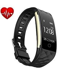 Fitness Armbänder, Tigerhu Fitness Tracker mit Schrittzähler Herzfrequenz Monitor Activity Tracker Schlaf-Monitor Fernschuss Call Benachrichtigung Push für Android und iOS Smartphones.