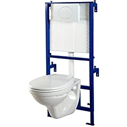 Pack wc suspendu Mural + cuvette wc NF