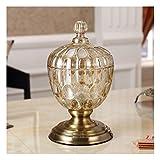 Nwn Cristallo Candy Jar Jar Bagagli Coffee Table Decoration Bagagli utensile secca Vaso dello spuntino di Frutta (Color : B)