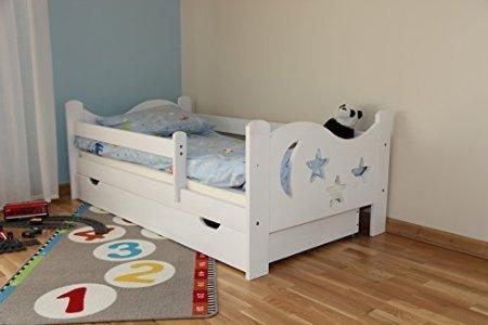 *Kinderbett Jugendbett Juniorbett Massivholz mit Matratze 160x80cm (weiss)*
