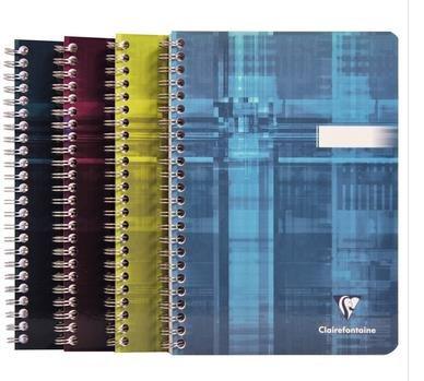 Spiralbuch mit Doppelspirale Clairefontaine, DIN A5 14,8x21cm, 50 Blatt, 90g, blanko 8540