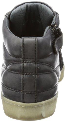 Bikkembergs PRO-SOCCER D94 LEATHER TAMP/LEATHERBLACK BKJ102701 Unisex-Kinder Sneaker Schwarz (Black/Red)