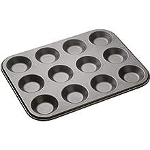 MasterClass 12-Hole Non-Stick Shallow Baking Tray (32 x 24 cm)