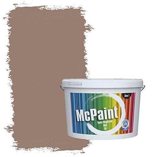 McPaint Bunte Wandfarbe Nougat - 5 Liter - Weitere Braune und Dunkle Farbtöne Erhältlich - Weitere Größen Verfügbar