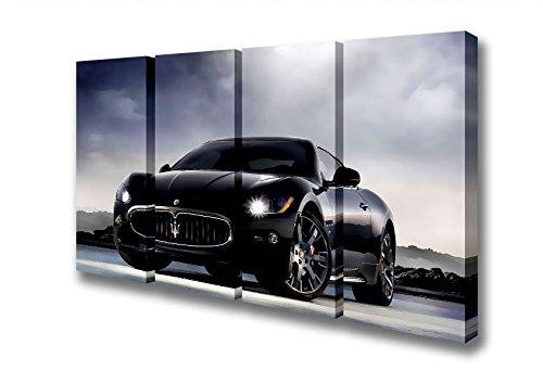 four-panel-maserati-granturismo-black-stunner-canvas-art-prints-double-xl-48-x-96-inches