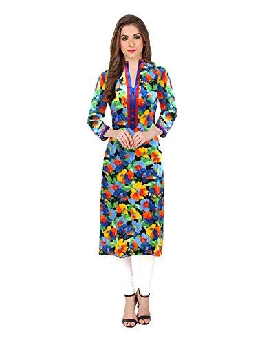 1 Stop Fashion Women's Cotton Casual Wrap Kurti (5557-M_Multicolor_Medium)