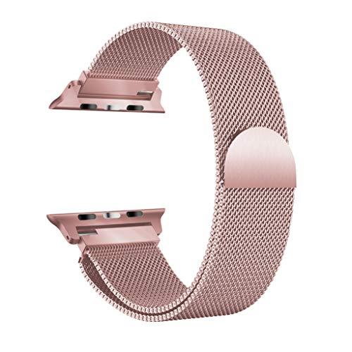 Y56 Milanese - Correa de Reloj de Acero Inoxidable para Apple Watch Serie 4, 40 mm/44 mm, Correa de Repuesto, Rosa, Apple Watch Series 4 44MM
