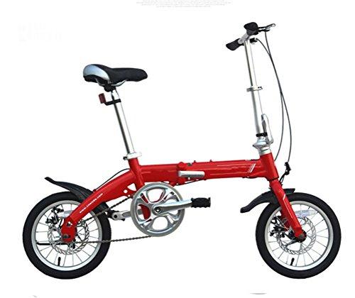 MASLEID 14 pouces en alliage d'aluminium pliable vélo double disque Adulte Mini Bike Enfants