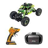 Tubayia 1:18 RC Auto mit Wi-Fi HD-Kamera und 720P VR Brille, Fernbedienung Rock Crawler Fahrzeug für Kinder Spielzeug Geschenk (Grün)