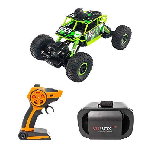 mit Wi-Fi HD-Kamera und 720P VR Brille, Fernbedienung Rock Crawler Fahrzeug für Kinder Spielzeug Geschenk (Grün) ()