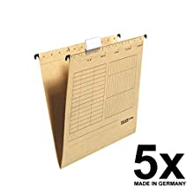 Falken Hanging File UniReg Made of Recycled Cardboard 5er Pack Brown