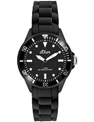 s.Oliver Unisex-Armbanduhr Small Size Silikon schwarz SO-2295-PQ