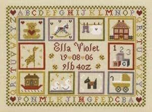 Toy Shop Birth Sampler - Cross Stitch Kit