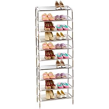 AcornFort® S 115 10 Tier Adjustable Shoe Storage Shoe Rack Organiser Shelf  Hold Stand