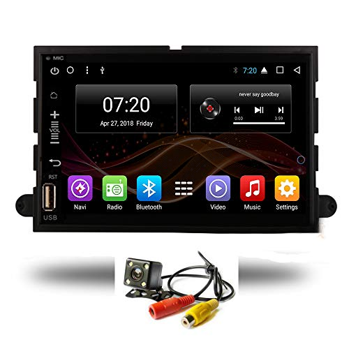Android 8.1 Car DVD Radio GPS Navigation for Ford F150 Fusion Expedition Mustang Explorer 2006-2009 Stereo Audio Navi Video with Bluetooth Calling WiFi (Android 8.1 1/16G for Ford F150 06-09)