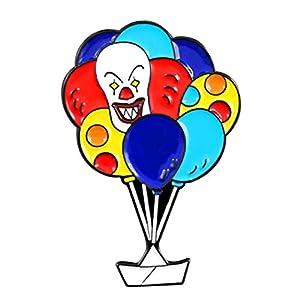 Ancjiape Hervorragende Clown Ballon Broch Regenbogenfarbe Ballonfall -Clown Enamel Pin Backpack Leder Badge Horror Comedy Movie Fan Geschenke