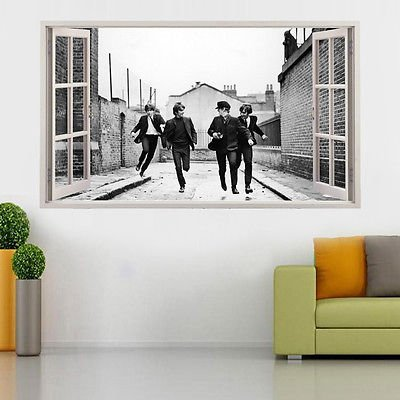 The Beatles Vinyl Poster Open Window Broken Wand Aufkleber 3D Art Wand  Aufkleber Kinder Schlafzimmer Kinderzimmer Baby Cool Wohnzimmer Hall Jungen  Mädchen ...