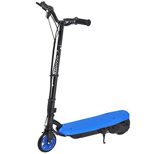 HOMCOM E-Scooter Kinderroller Tretroller Jugend Roller Kinder Metall Blau L76*W50*H91cm