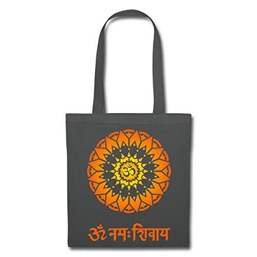 Spreadshirt OM Namah Shivaya Sanskrit Zeichen Stoffbeutel, Graphite