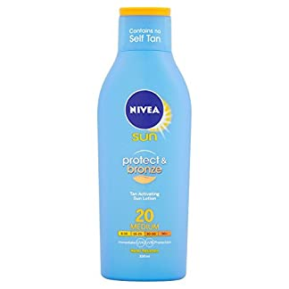 Nivea sun – Protect and bronze, loción solar, factor de protección solar 20 – 200 ml