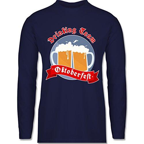 Shirtracer Oktoberfest Herren - Drinking Team - Oktoberfest - Herren Langarmshirt Navy Blau