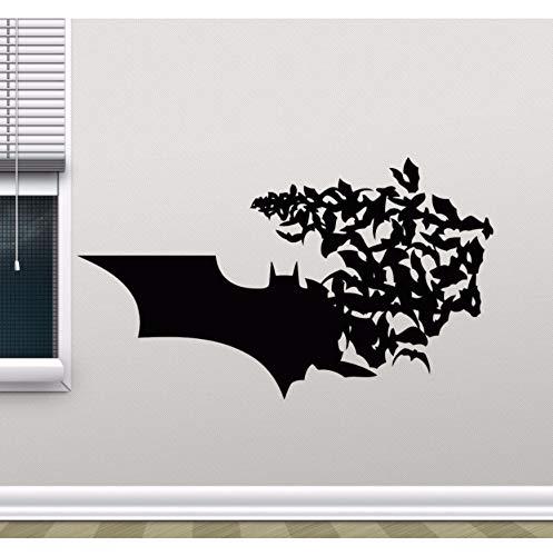 Likeai Wandaufkleber Batman Logo Wandtattoo Bat Manga Superheld Wandaufkleber Wohnkultur Junge Zimmer Batman Wandbild Vinyl Design Tapete 98 * 57C M