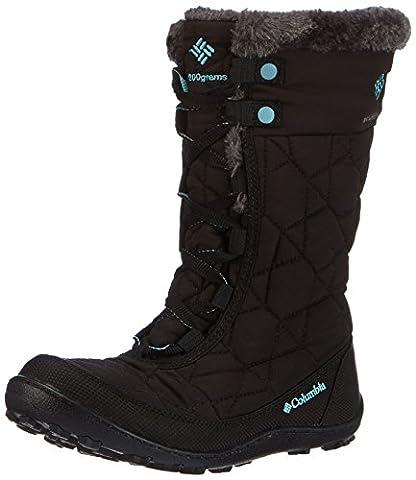 Columbia Youth Minx Mid Ii Waterproof Omni-heat Unisex-Kinder Trekking- & Wanderstiefel, Schwarz (Black/Iceberg 010), 37 EU, 1566591
