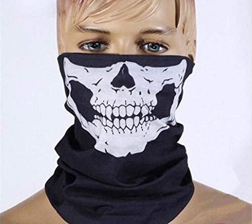 [3 Stück] Jtdeal Motorrad Totenkopf Maske, Sturmmaske, Skull skelett Maske für Motorrad Fahrrad Ski Halloween, Schwarz