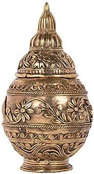 Biswa Bangla Handcrafted Dokra Table-top Laxmi Pot - Gold