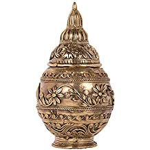 Biswa Bangla Handcrafted Dokra Table-top Laxmi Pot - Gold