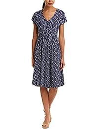 67b1834d27 Joules Ladies Finola Gathered Midi Dress Grey Beau Bloom