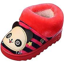 YanHoo Zapatos para niños Bolso a Rayas de Dibujos Animados de Invierno de Hombres y Mujeres