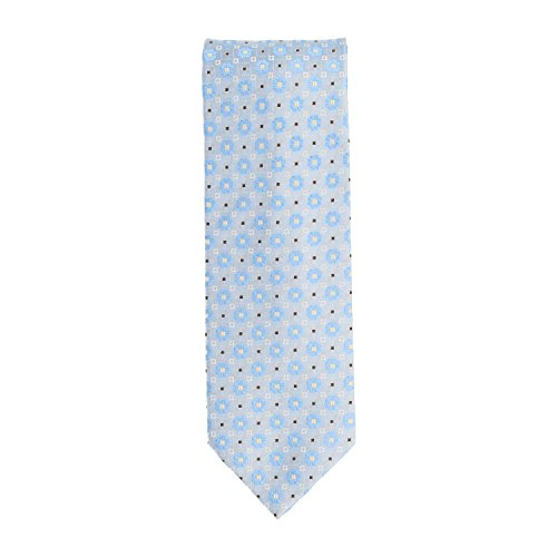 Silk Ties Tie Classic cravatta seta blu claro floreale 8