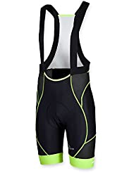 Rogelli–Pantalones cortos porrena Negro negro y amarillo Talla:medium