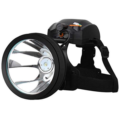Lampade da testa fari luci sportive per esterni luci per arrampicata luci di circolazione notturne luci per pesca notturna fari fari impermeabili (color : black, size : 10 * 9.5 * 11cm)