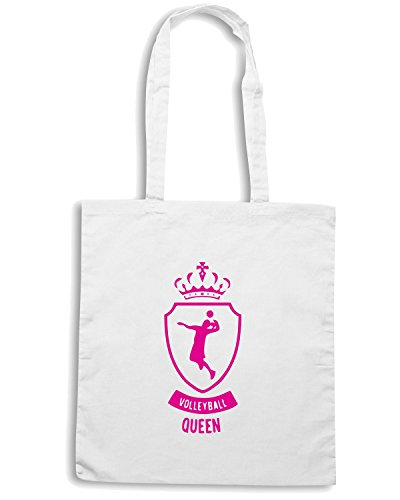 T-Shirtshock - Borsa Shopping SP0146 Volleyball Queen Maglietta Bianco
