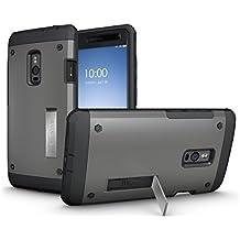 OnePlus 2 Funda, TUDIA Tough OMNIX [Heavy Duty] Ultra-Resistente Protección de cuerpo entero con protector de pantalla incorporado Carcasas con Pata de Cabra para OnePlus 2 / OnePlus Two (Grafito)