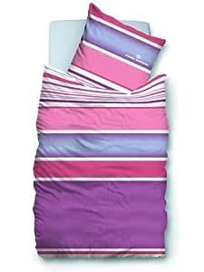 Tom Tailor 069233-829-001 Satin Bettwäsche ca. 135 x 200 + 80 x 80 cm violett