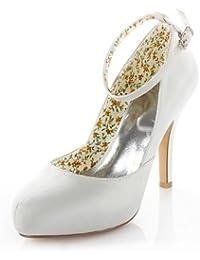 Ei&iLI Zapatos de boda-Tacones-Tacones-Boda / Vestido / Fiesta y Noche-Marfil-Mujer , ivory