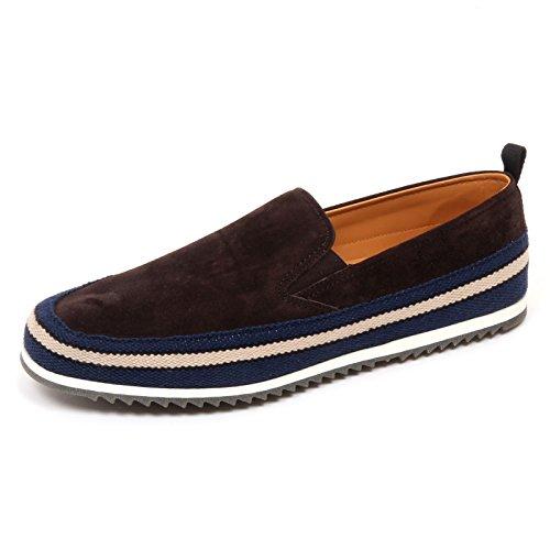 D2502 mocassino uomo CAR SHOE scarpe marrone slip on loafer shoe man Marrone scuro