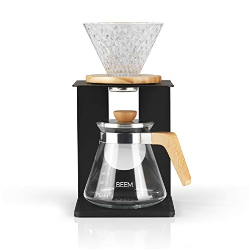 Beem Pour Over Kaffeebereiter Set-4 Tassen | Classic Selection | 4-teilig | Glas-Handfilter in...