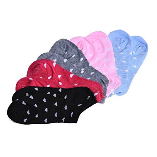 5 Paar Frauen Sport Casual Ankle Low Cut Baumwolle Socken Unisex Socken Bunt Sneaker Socken Kindersocken Bequem Ohne Drückende Baumwollsocken Sportsocken stützstrumpfhose Strümpfe (Gefärbt) (Casual Low Socken)