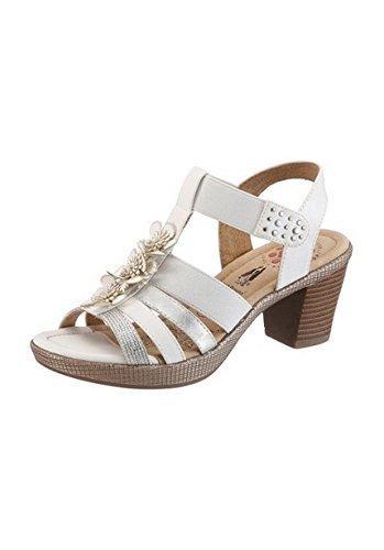 Sandalo col tacco alto donna larghezza f von Hush Puppies Bianco Bianco